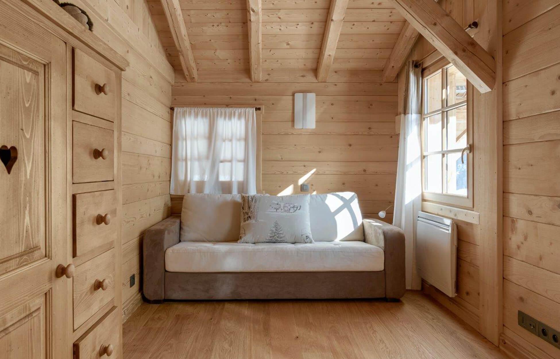 Chambre du Chalet Ange en Savoie